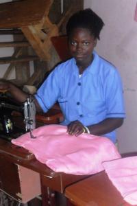 Bintu - tailoring trainee