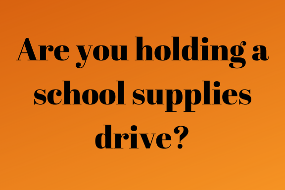 Donate Or Collect School And Office Supplies