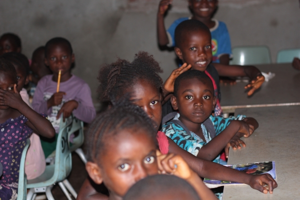Children learning inside the Develop Africa Empowerment and Training Institute