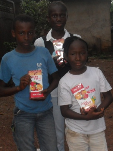 Children Receive Vitamin Supplements