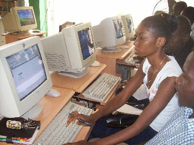 Computer training in Africa