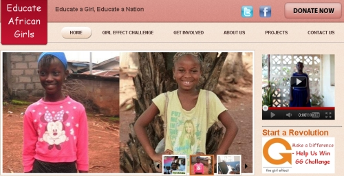 Educate African Girls site launch