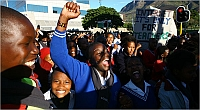 Children march in South Africa