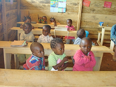 Children at Bitame Lucia Nursery and Primary School