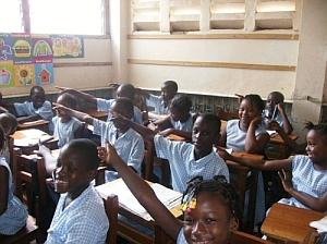 Excited Children - At Modern Elementary School