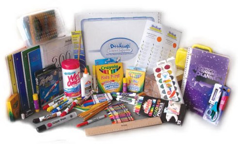 Donate or collect school supplies