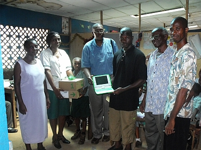 XO laptops donated to Eva Houston School