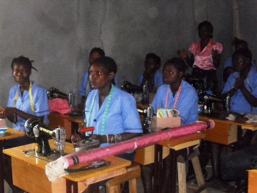 tailoring trainees at Door of Hope